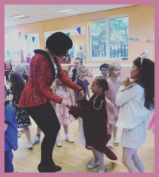 The Greatest Showman at a children's party
