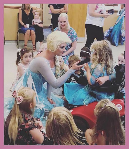 The Snow Queen at children's party