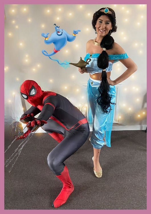 The Desert Princess with Spiderman