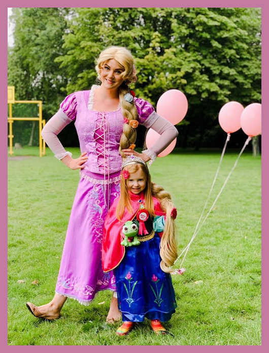 Rapunzel with birthday girl