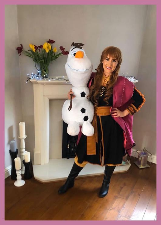 The Snow Princess with Olaf the snowman